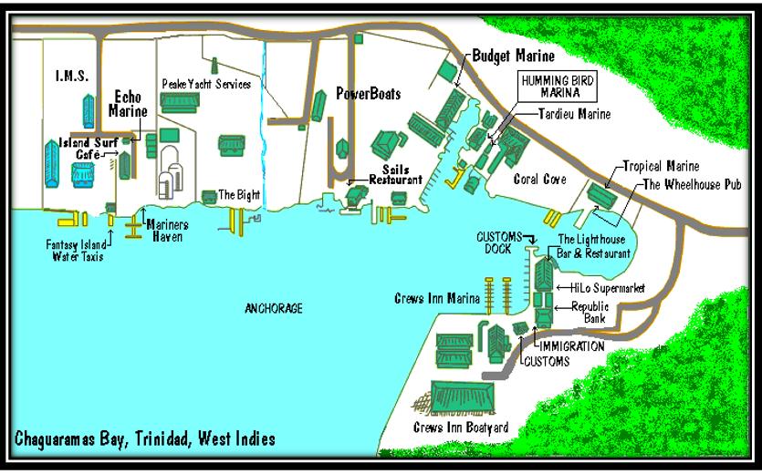 05. Trinidad, baie de Chaguaramas et chantiers