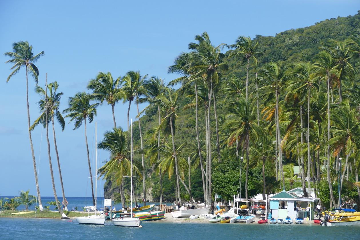 07. Ste Lucie, Marigot harbour, un décor de carte postale