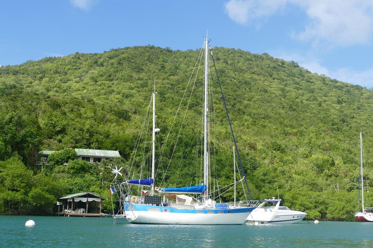 09. Ste Lucie, Marigot harbour, le lagon