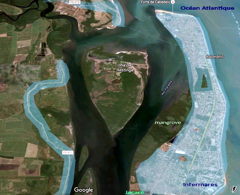 1. Carte de l'entrée du fleuve Paraiba