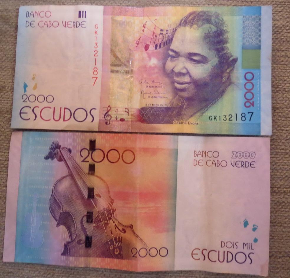 1. Sur le billet de 2000 escudos le portait de Cesaria Evora, le chantre de ce pays