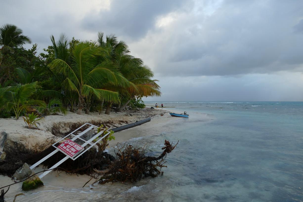 11. L'îlet du Gosier ; traces du cyclone Maria