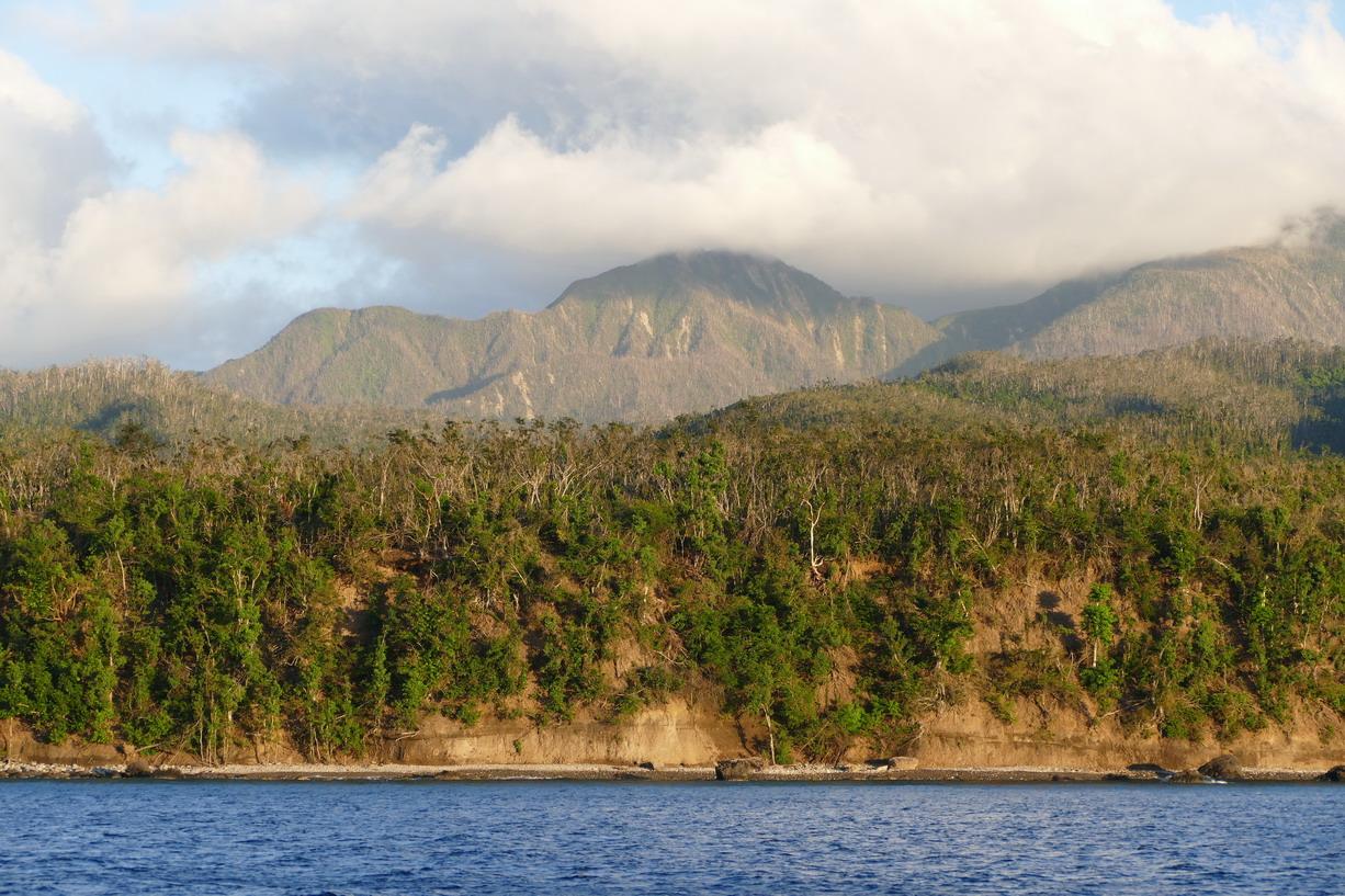 11. La Dominique ; le cyclone Maria a laissé des traces