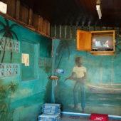 13. Mayreau, village de Tarzan, bar restaurant d'artiste