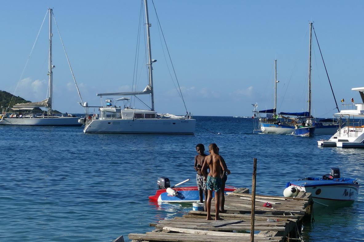 16. Mayreau, Salt whistle bay, un débarcadère bien endommagé