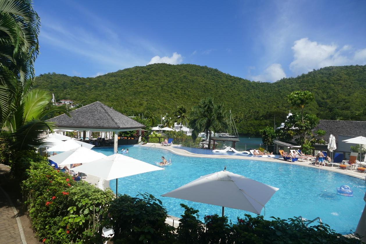 16. Ste Lucie, Marigot harbour, le Resort