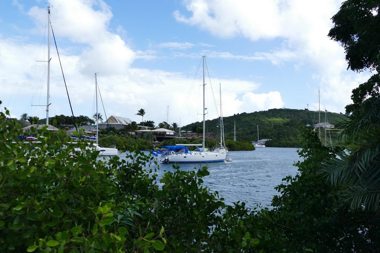 18. Antigua, English harbour, le fond du bras de mer