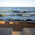 18. Recife, la plage de Boa Viagem, très réduite à marée haute