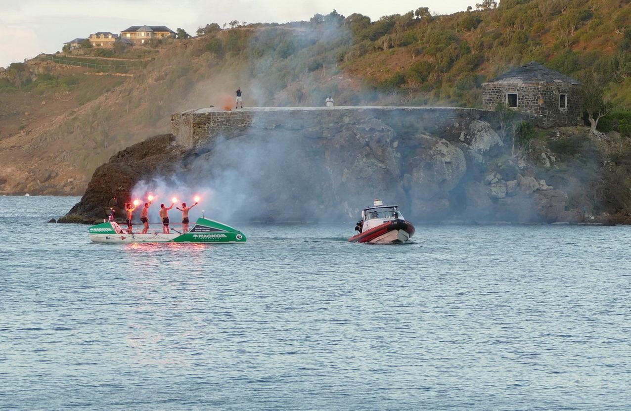 19. Antigua, English harbour, l'arrivée de l'Atlantic challenge