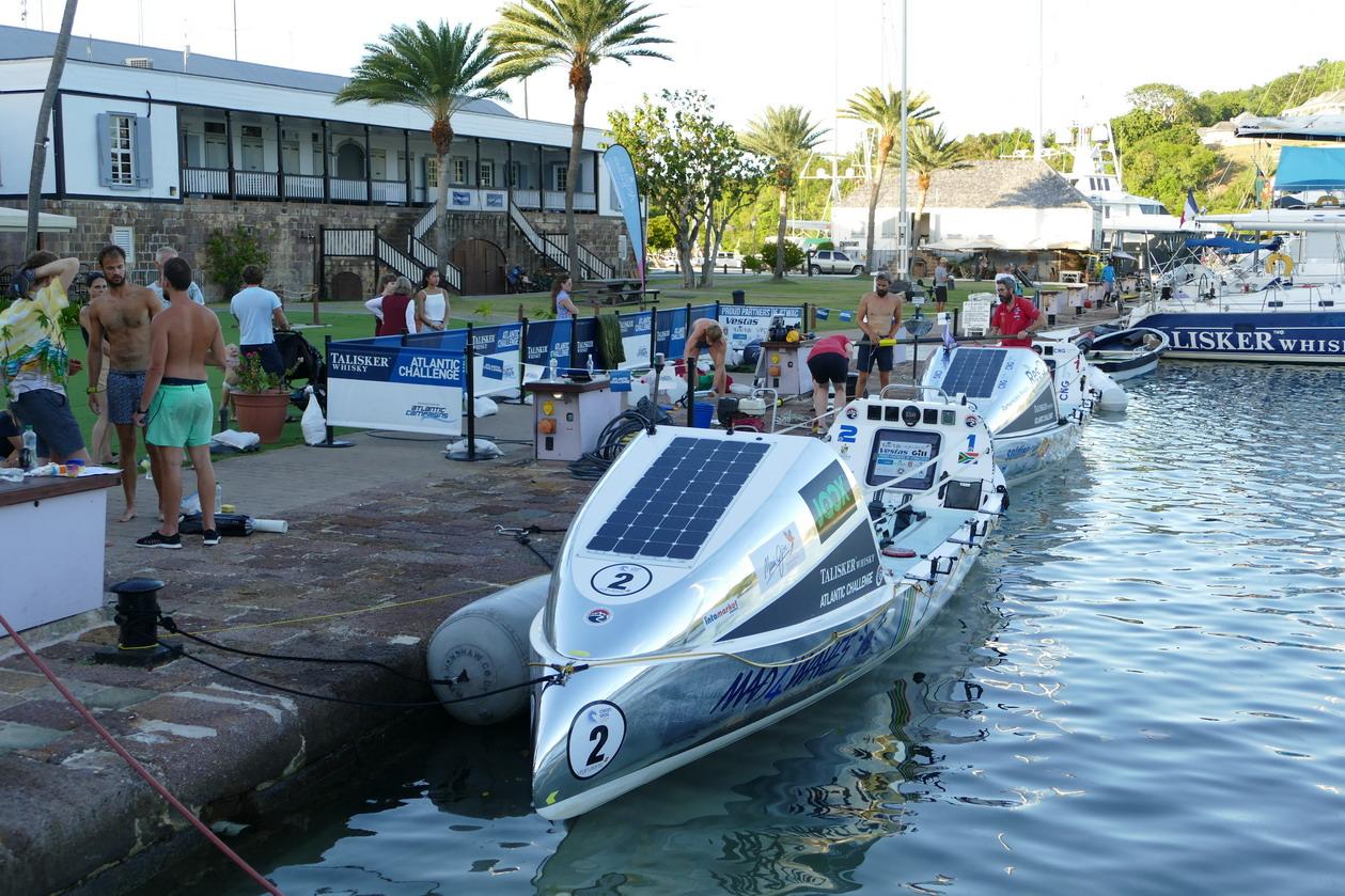22. Antigua, English harbour, le quai de l'Atlantic challenge