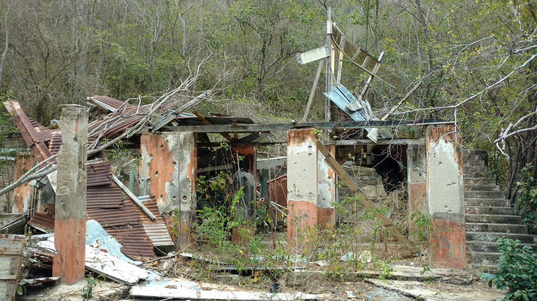 22. Maison en ruine de l'ancienne léproserie à Chacachacare island
