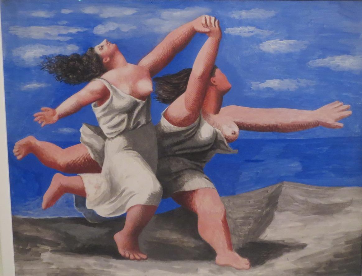 33. Picasso, expo à la Caixa cultural de Rio, deux femmes courant sur la plage