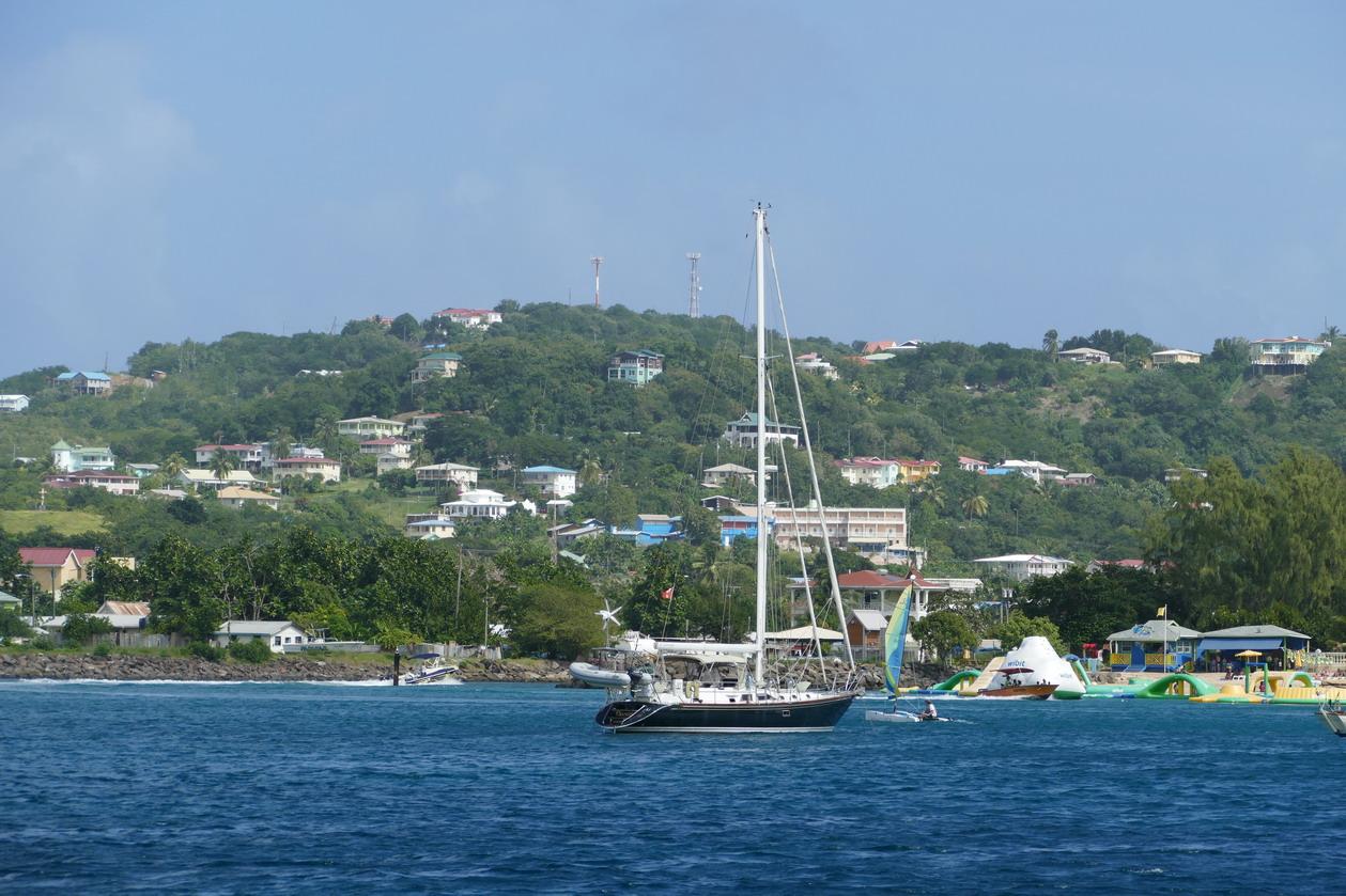 33. Ste Lucie, Rodney bay, le canal d'entrée vers le lagon et la marina
