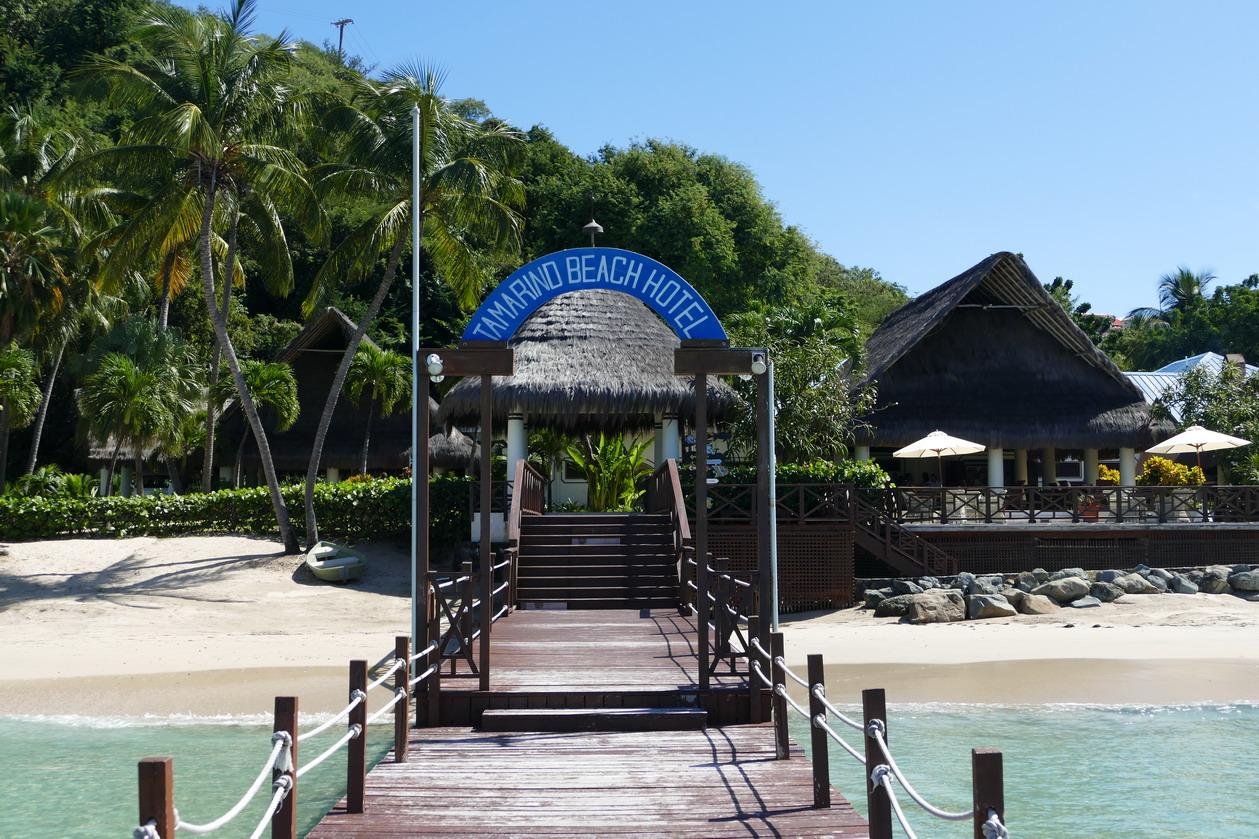 37. Canouan, baie de Charlestown, Tamarind beach hotel