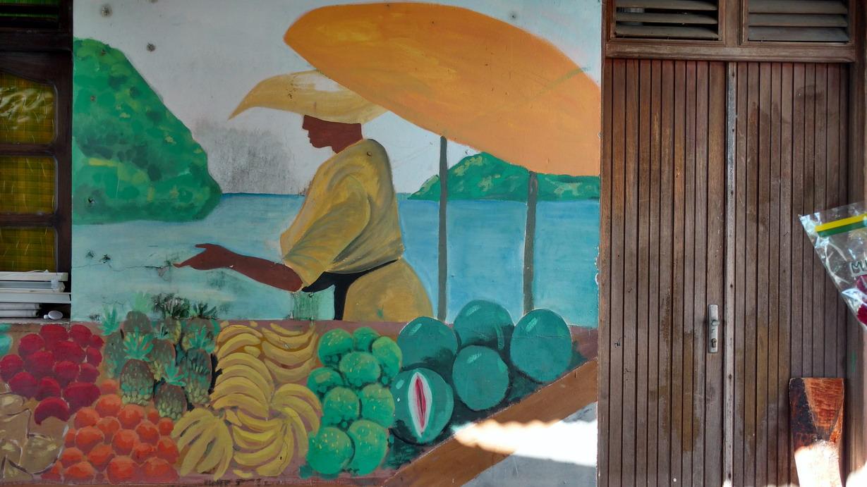 41 La Guadeloupe ; Deshaies, le marché