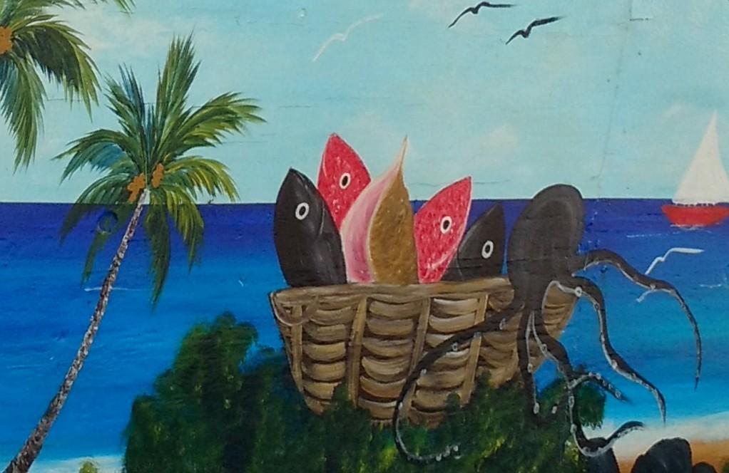 42. La Guadeloupe ; Deshaies, le marché