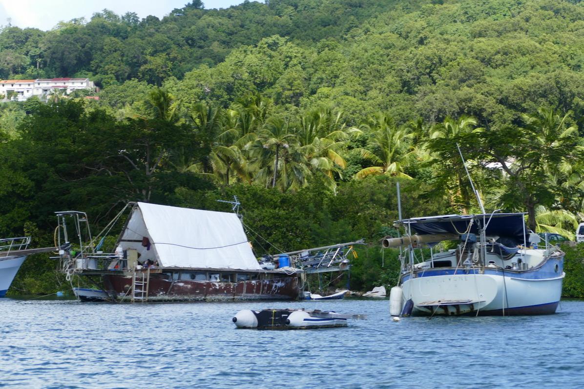 43. La Martinique, le Marin ; des caravanes flottantes