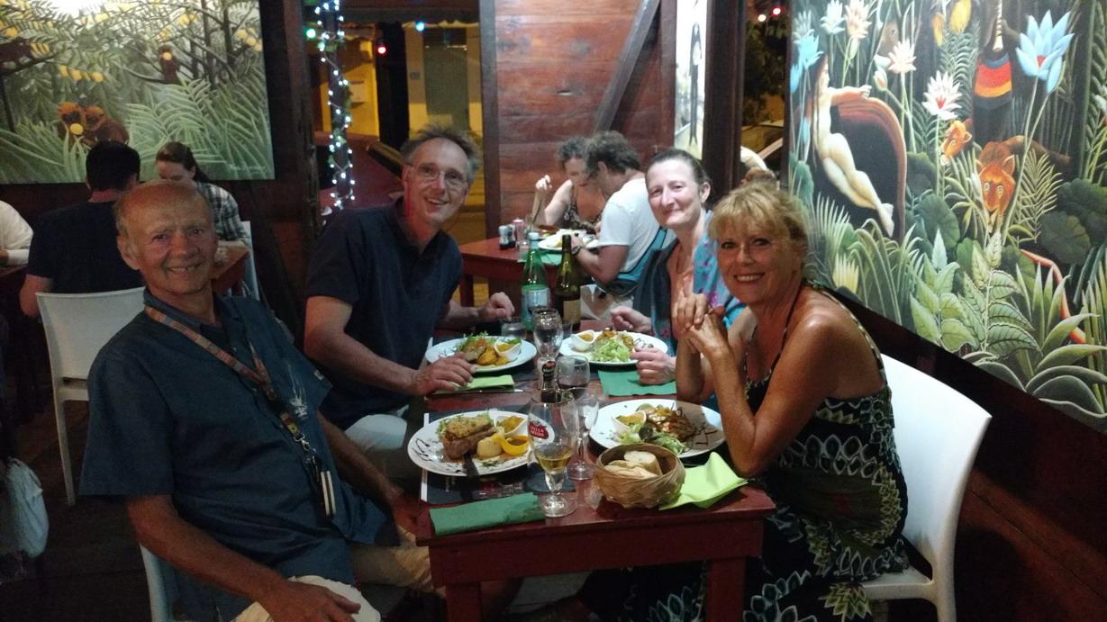 44. La Guadeloupe ; Deshaies, restaurant La Caz' du douanier (à recommander)