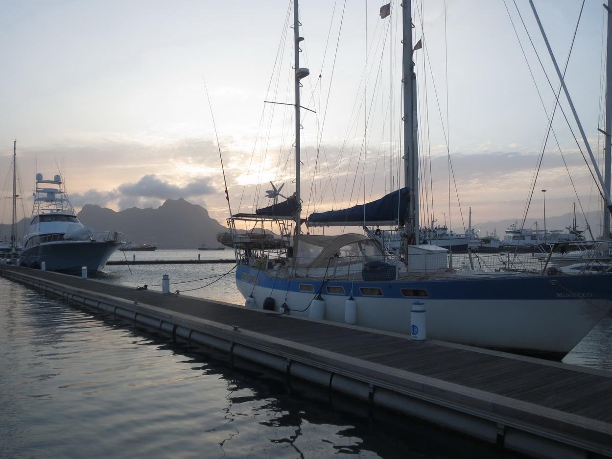 7. Mindelo à la marina de Mindelo quelques jours avant le grand départ