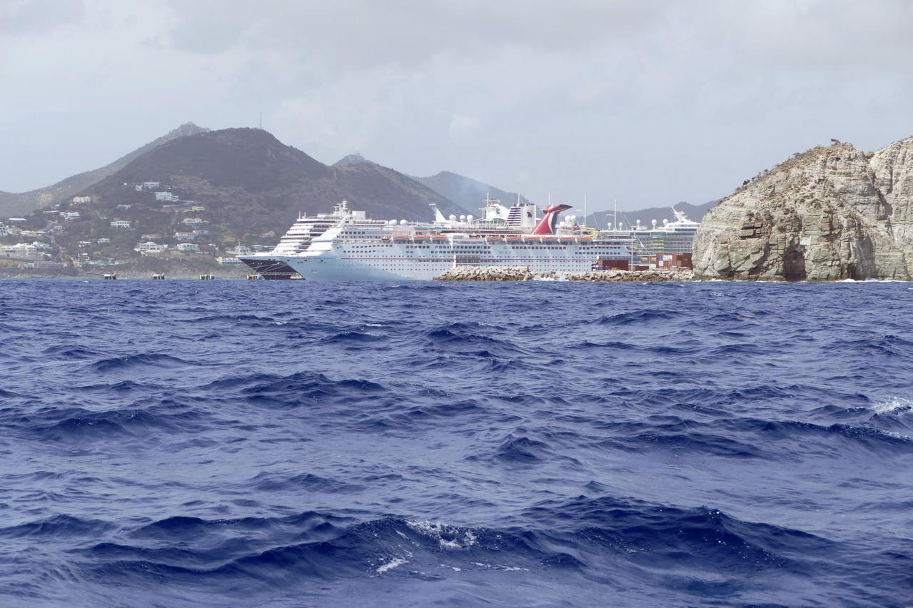 01. Sint Maarten, Philipsburg, les paquebots sont omniprésents