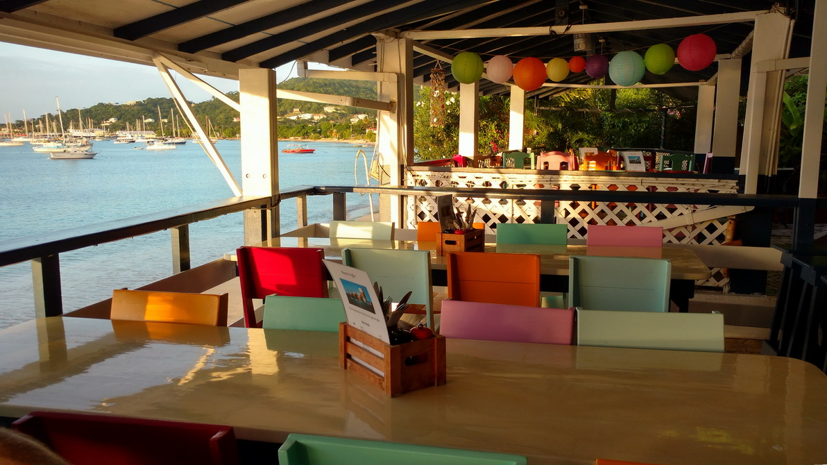 02. Cariacou, Tyrell bay, Lazy turtle restaurant