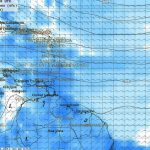 02. Carte des précipitations (le bleu foncé indique les fortes pluies)