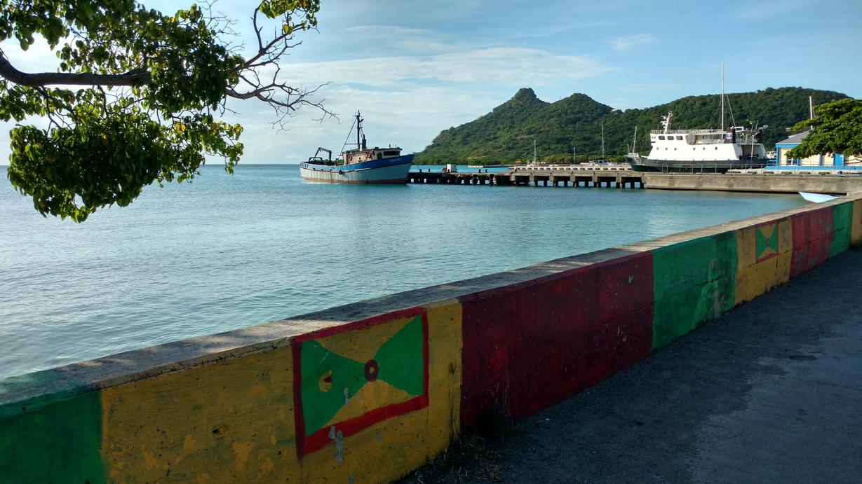 03. Cariacou, Tyrell bay, le quai du ferry pour Grenade
