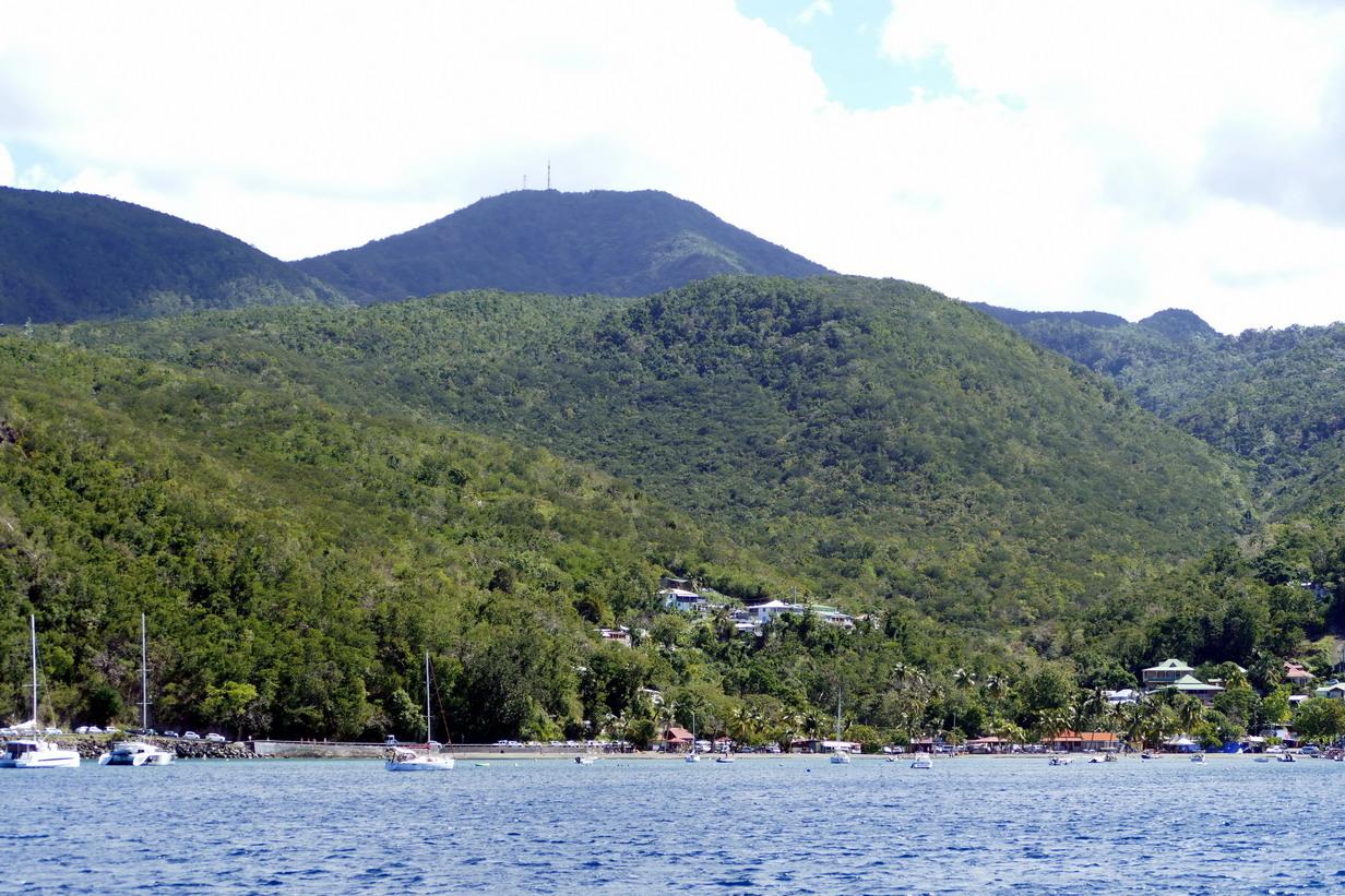 03. La Guadeloupe ; l'Anse à la Barque, pas vraiment de place pour se mettre