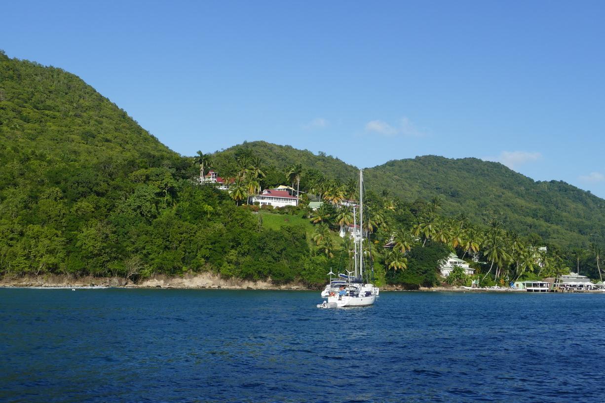04. Ste Lucie, le chenal d'entrée à Marigot harbour