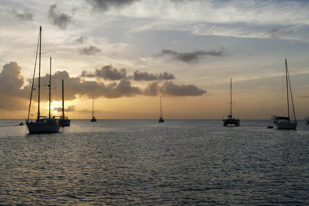07. La Martinique, le mouillage de St Anne