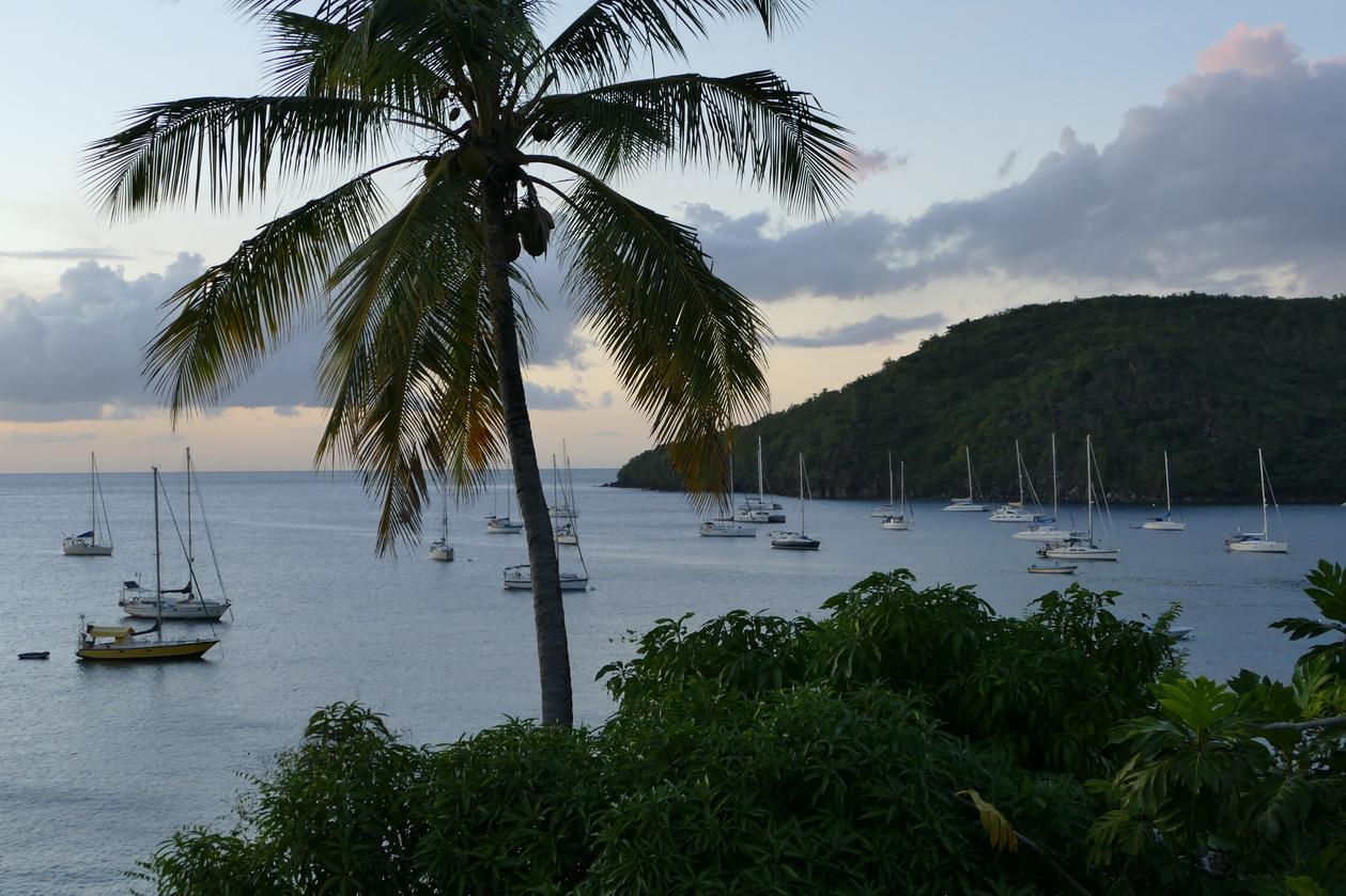 12. La Martinique, Petite Anse d'Arlet, le mouillage