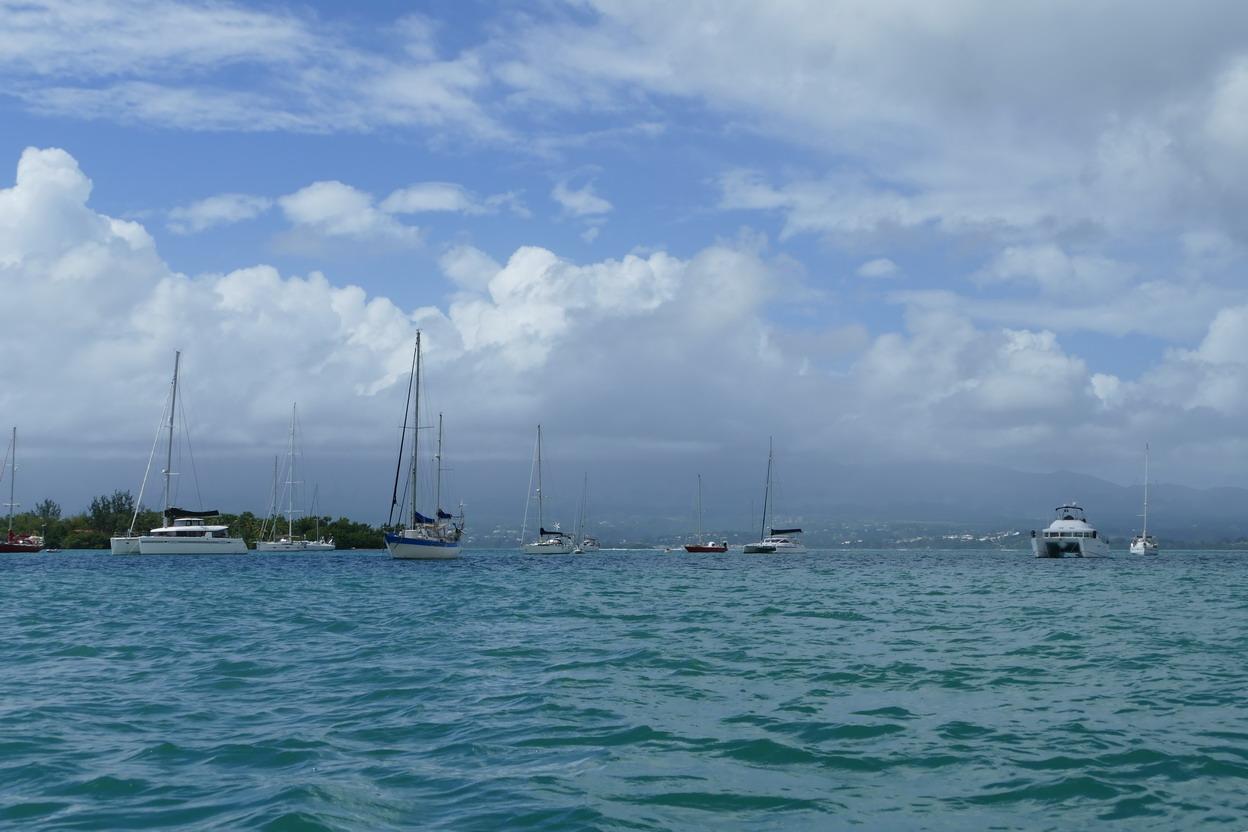 12. Pointe-à-Pitre ; mouillage en face de la marina du Bas-du-Fort