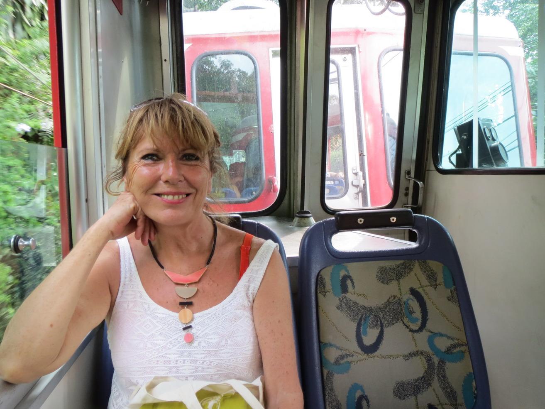 13. Dans le train à crémaillère