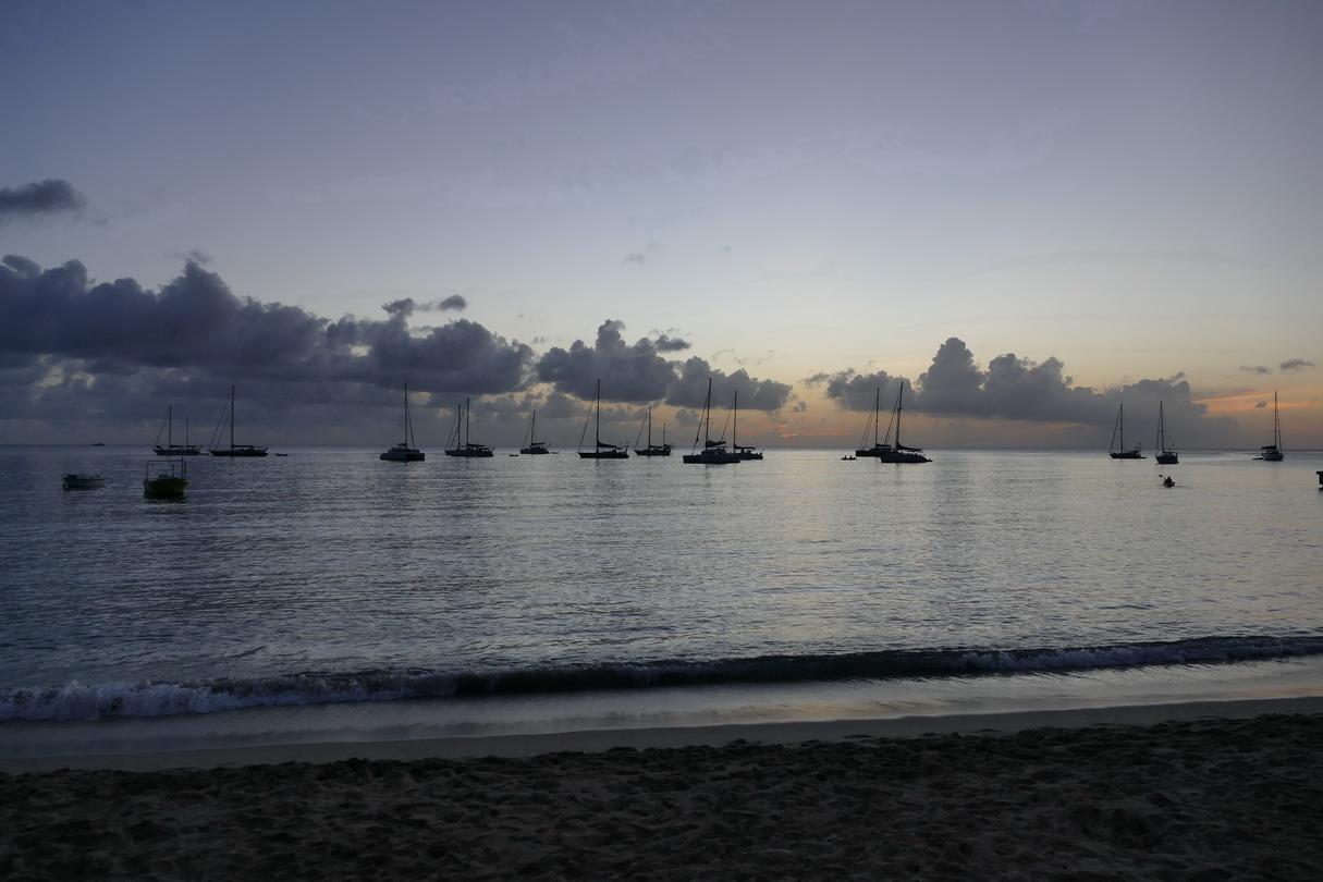13. La Martinique, Petite anse d'Arlet, la zone de mouillage