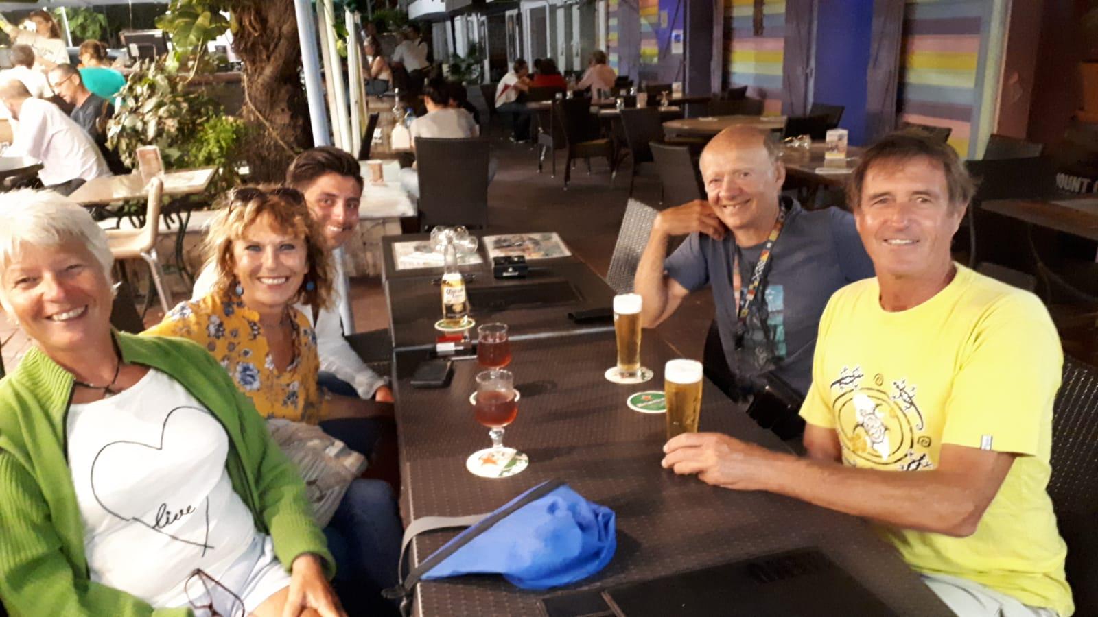 13. St Martin, Marigot, avec Florence et Jean à l'Arhawak, notre restaurant préféré