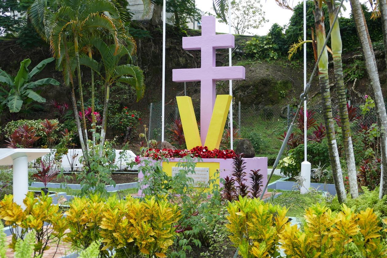 14. Castries, King George V gardens, l'hommage des gaullistes aux St Luciens pour l'aide apportée durant la guerre