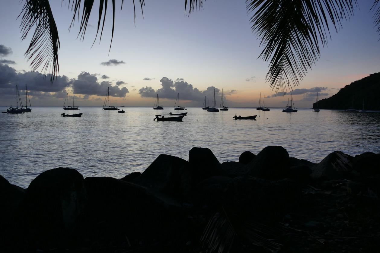 14. La Martinique,, Petite anse d'Arlet, la zone de mouillage
