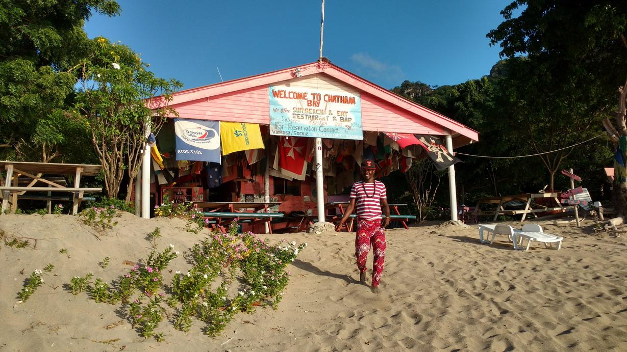 15. Union island, Chatham bay, le petit restaurant de Vanessa