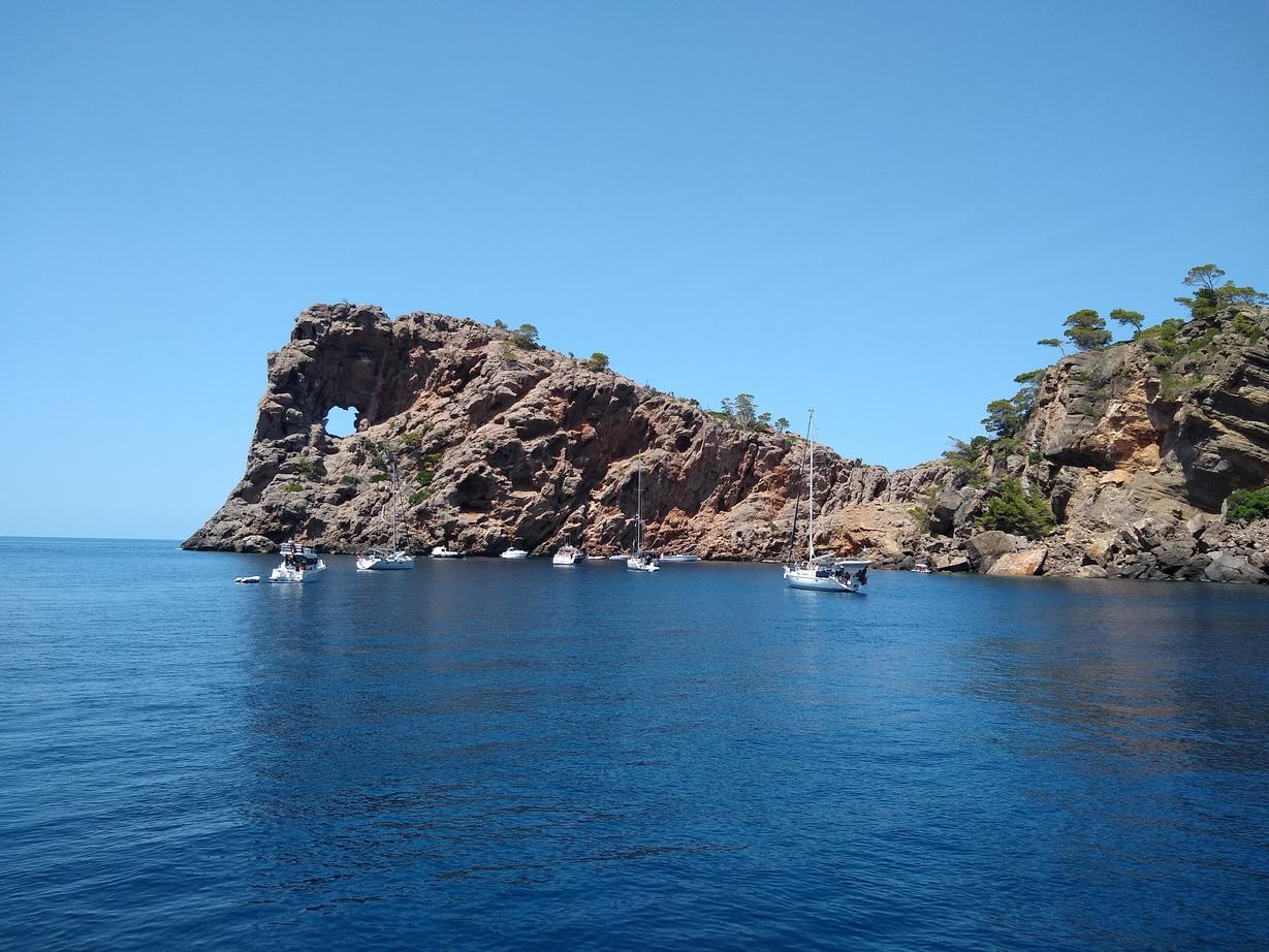 16. Sa Foradada, un mouillage que nous avons découvert il y a longtemps.