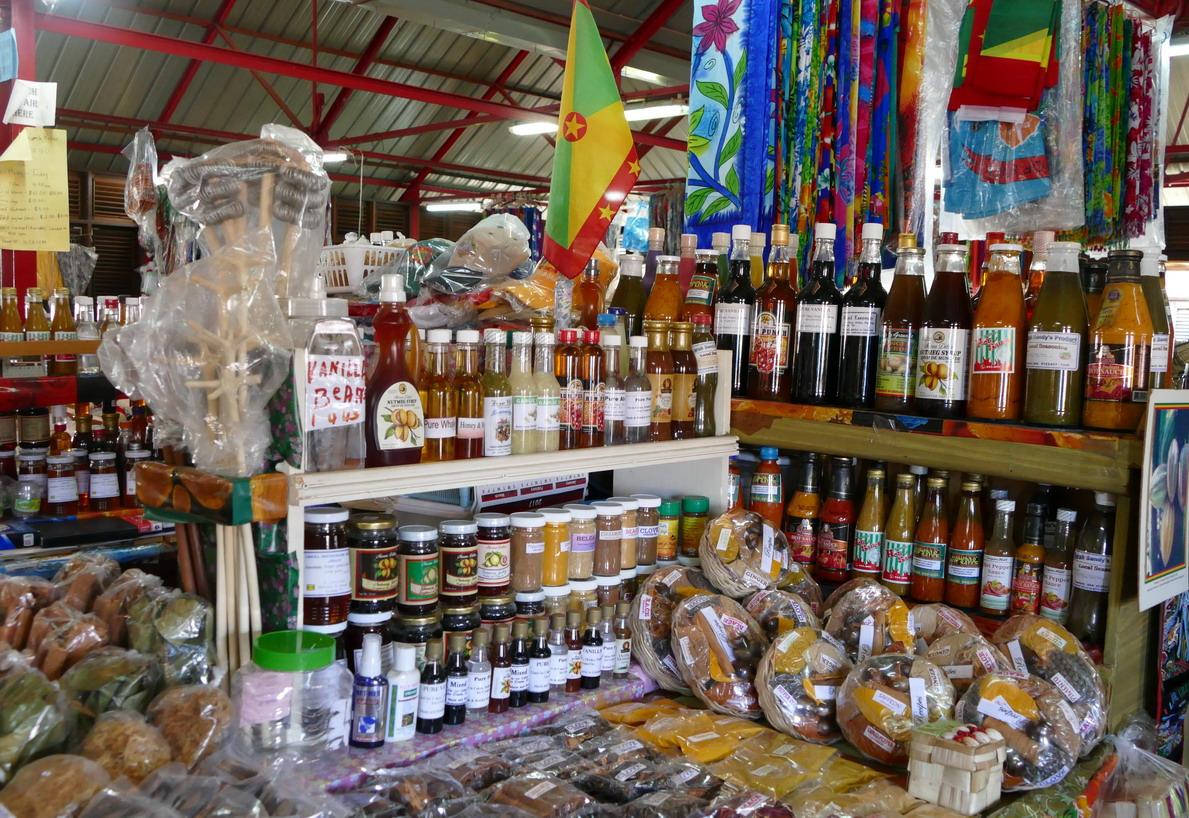 16. St George's, le marché aux épices