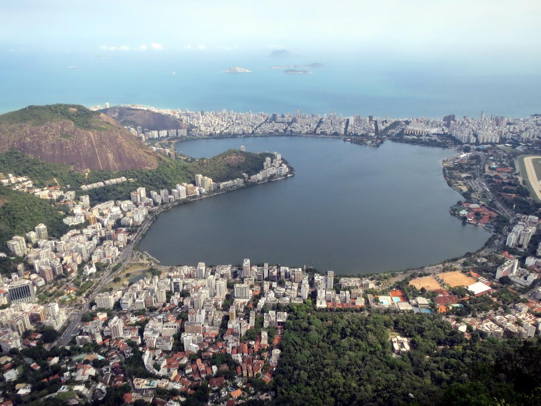 17. Le lac intérieur vu du Corcovado