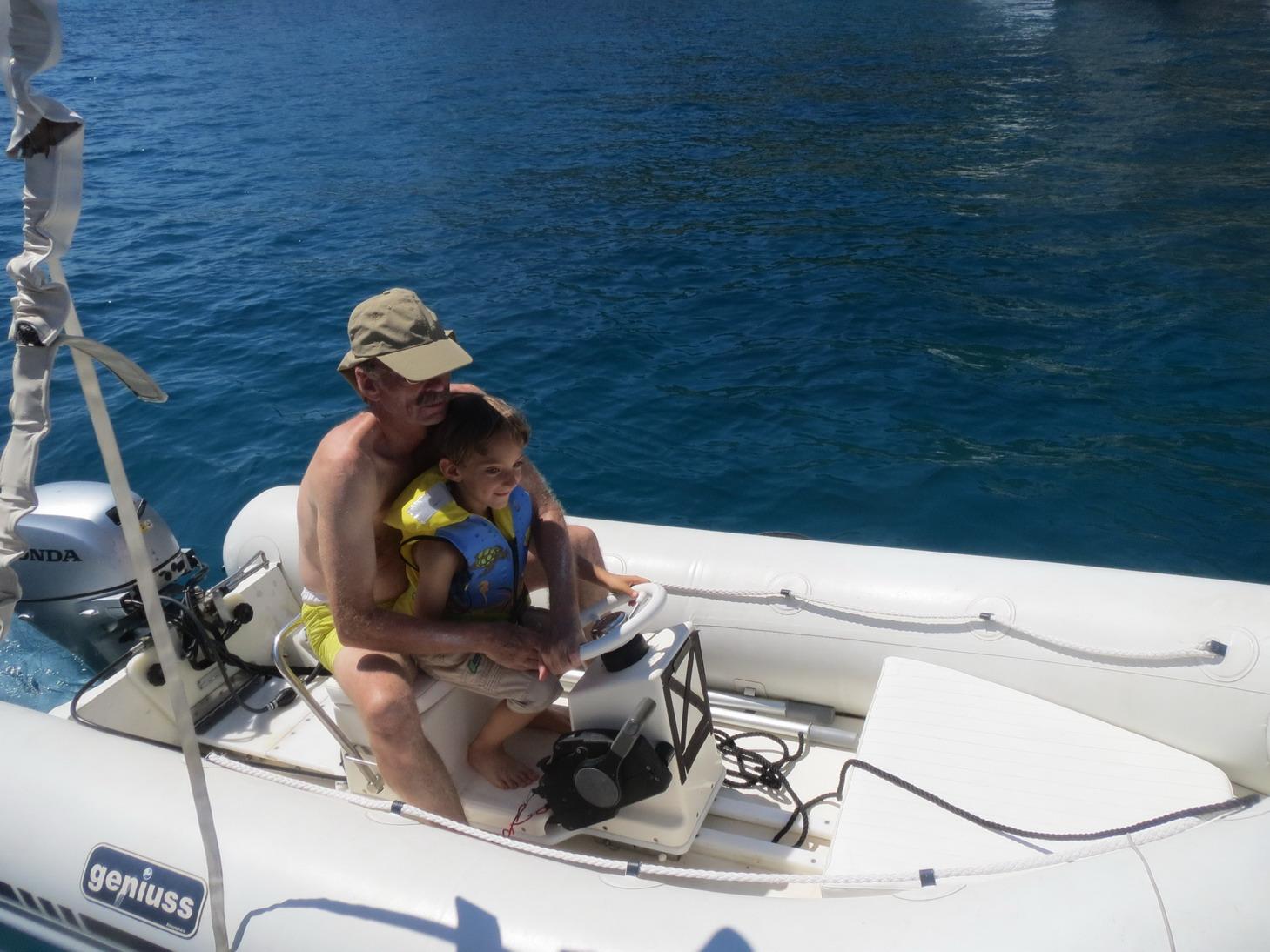 17. Ibiza, cala Longa, première leçon de conduite