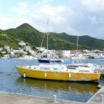 18. St Martin, Marigot, Simpson bay lagoon, le quai de la marina le Port Royal