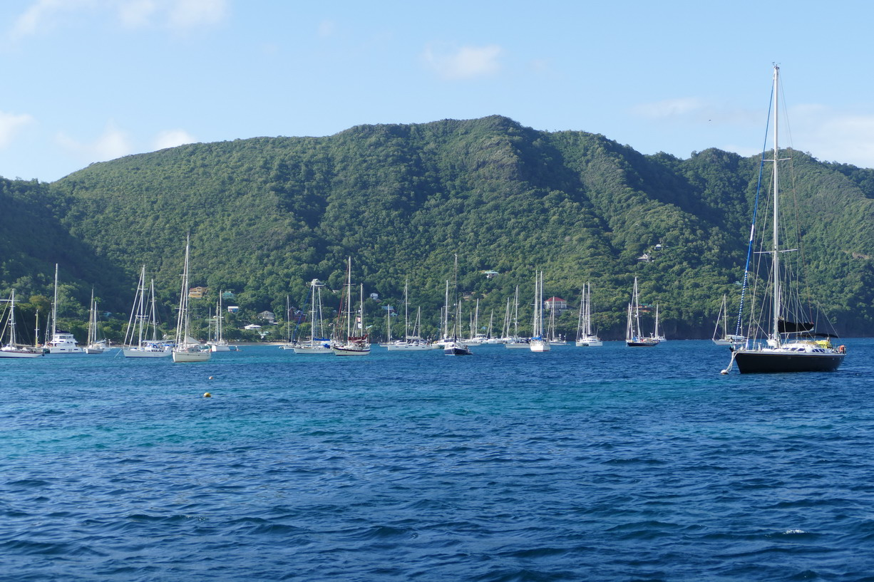 19. Bequia, Admiralty bay, le mouillage au sud