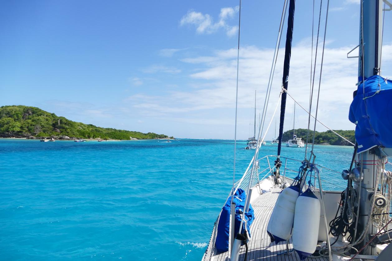 19. Les Tobago cays, le mouillage