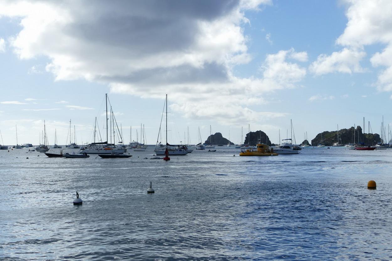 21. St Barth, Gustavia, l'aire de mouillage vue du port