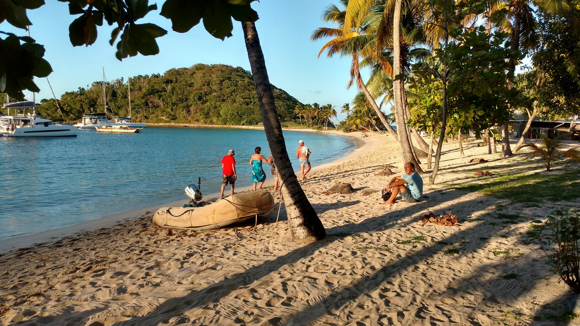 22. Mayreau, la plage de Salt whistle bay