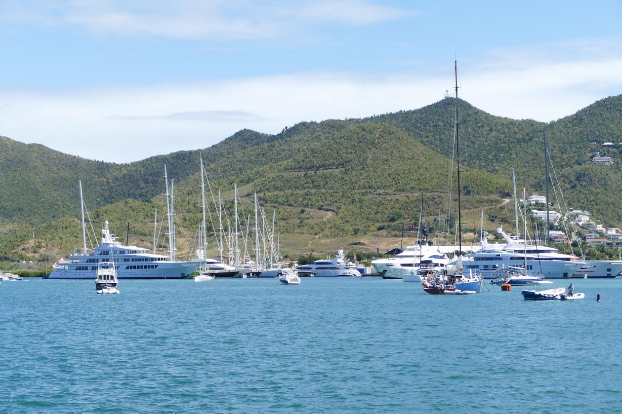 22. Sint Maarten, les mouillages et les marinas dans Simpson bay lagoon