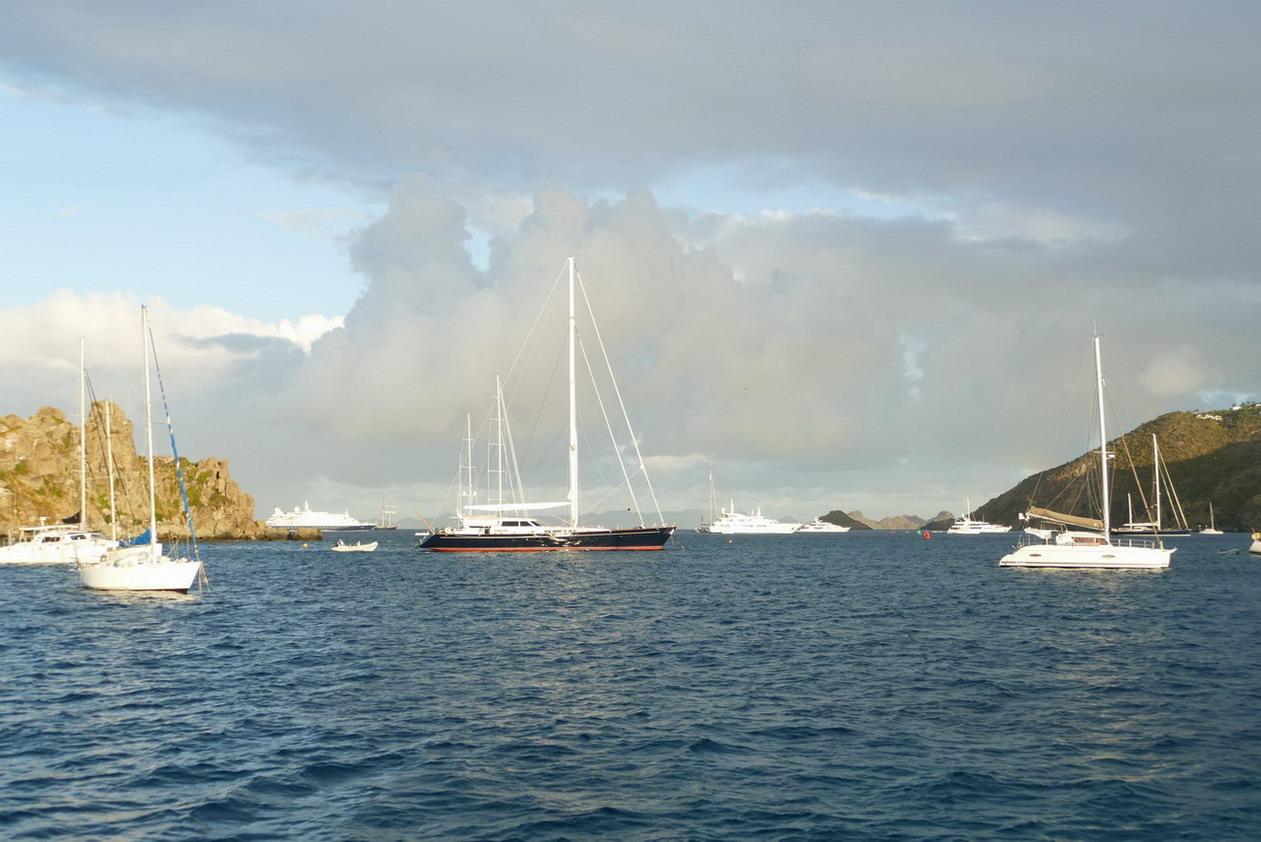 22. St Barth, Gustavia, l'aire de mouillage souvent agitée