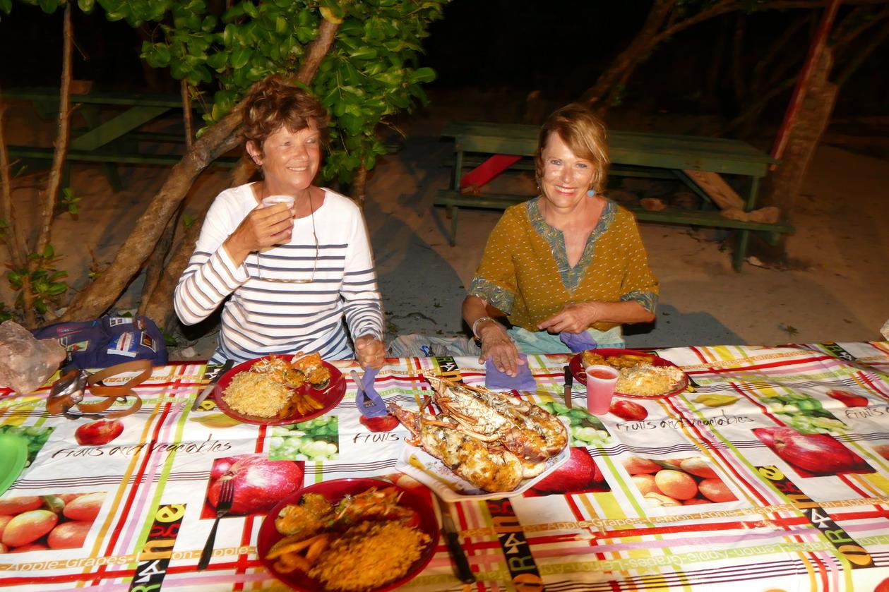 23. Les Tobago cays, un plat de langoustes